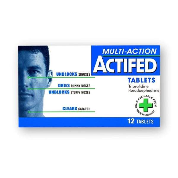 Actifed Multi-Action Tablets 12's