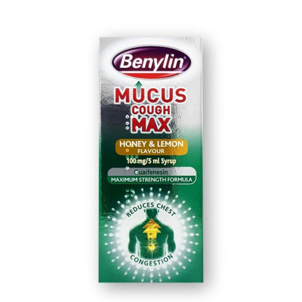 Benylin Mucus Cough Max Honey & Lemon Flavour 100mg/5ml Syrup 150ml