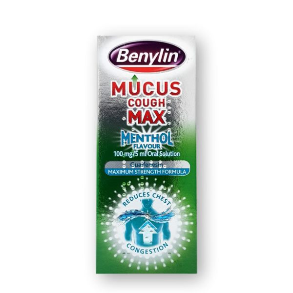 Benylin Mucus Cough Max Menthol 100mg/5ml Oral Solution 150ml