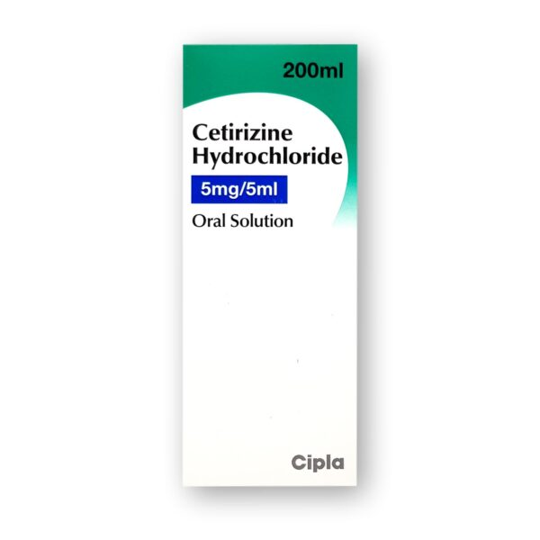 Cetirizine Hydrochloride 5mg5ml Oral Solution 200ml