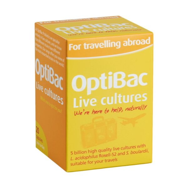 Optibac Probiotics For Travelling Abroad Capsules T2