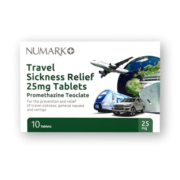 Numark Travel Sickness Relief 25mg Tablets 10's