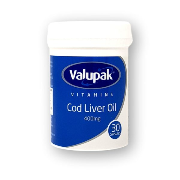 Valupak Cod Liver Oil 400mg Capsules 30's