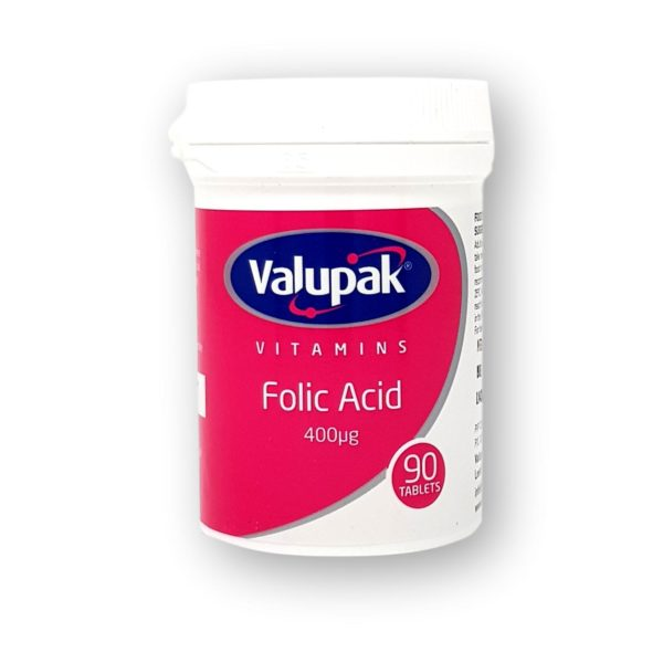Valupak Folic Acid 400mcg Tablets 90's