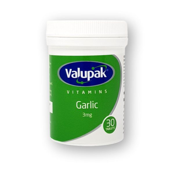 Valupak Garlic 3mg Tablets 30's