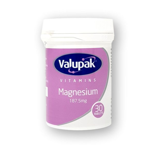 Valupak Magnesium 187.5mg Tablets 30's