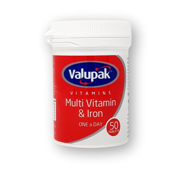 Valupak Multi Vitamin & Iron One A Day Tablets 50's