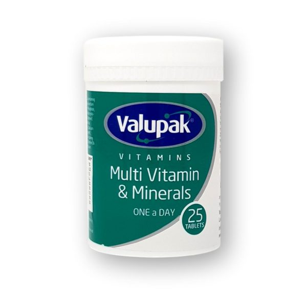 Valupak Multi Vitamin & Minerals One A Day Tablets 25's