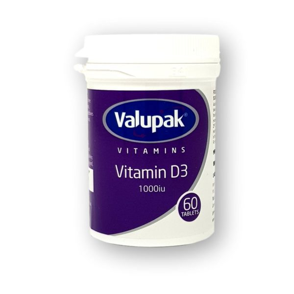 Valupak Vitamin D3 1000iu Tablets 60's