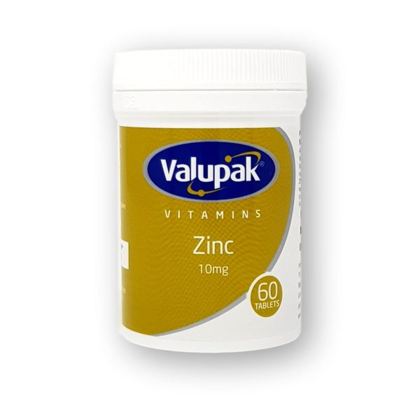 Valupak Zinc 10mg Tablets 60's