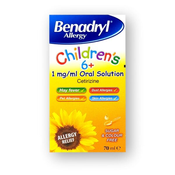 Benadryl Allergy Children's 6+ Oral Solution 70ml