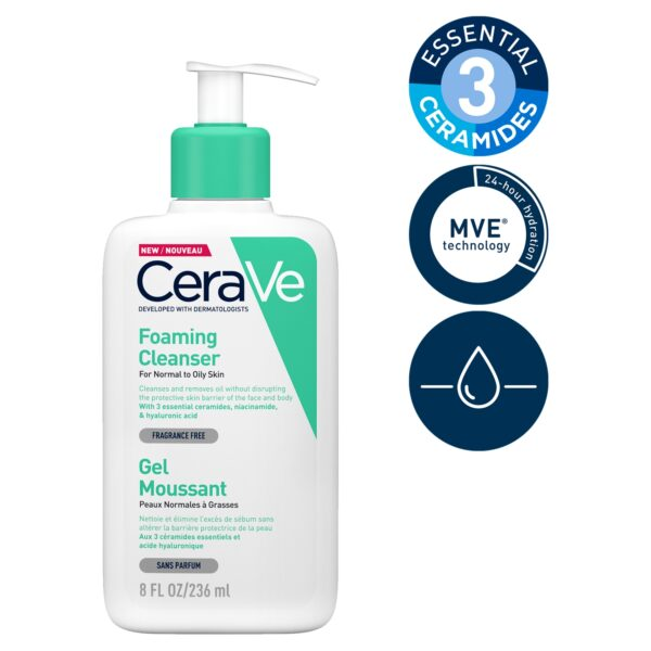 CeraVe Foaming Cleanser for Normal to Oily Skin 236ml_T2