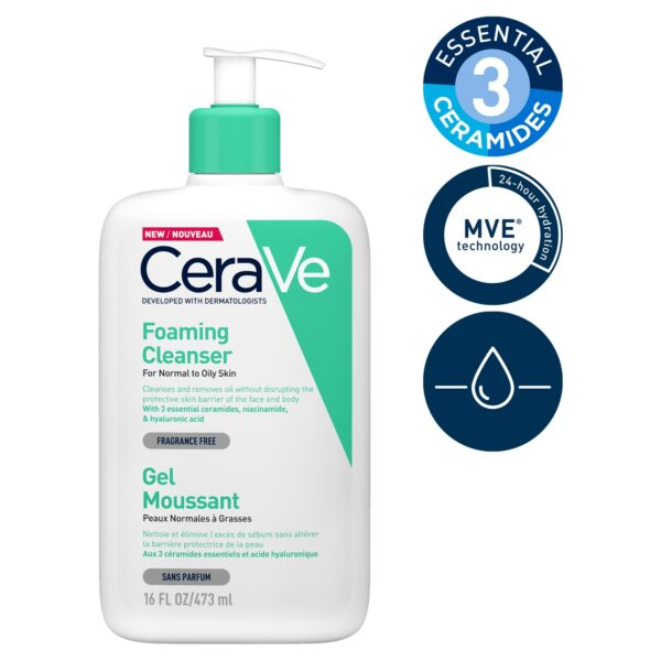 CeraVe Foaming Cleanser for Normal to Oily Skin 473ml_T2