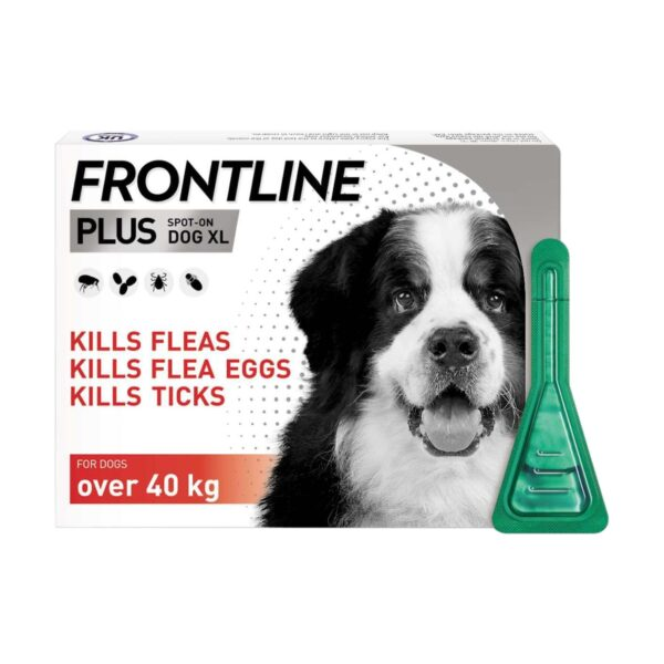 Frontline Plus Flea & Tick Treatment for Extra Large Dogs (over 40kg) Pipettes