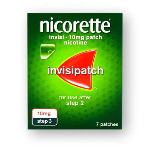 Nicorette Invisi 10mg Patches Step 3 7's