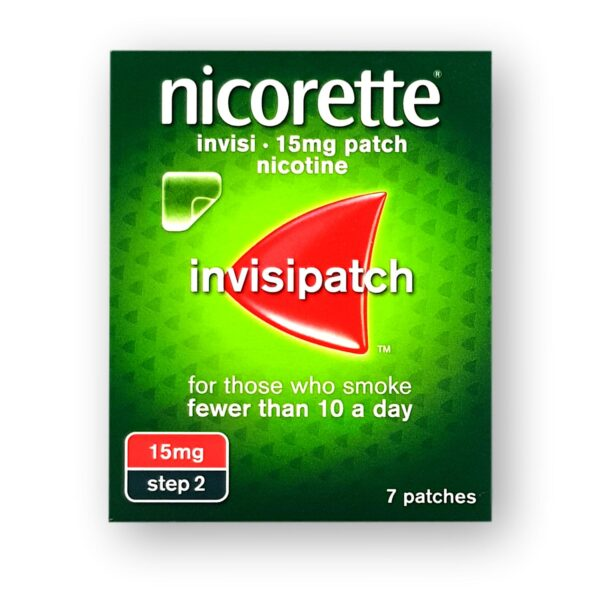 Nicorette Invisi 15mg Patches Step 2 7's