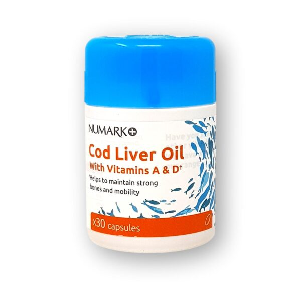 Numark Cod Liver Oil with Vitamin A&D Capsules 30's