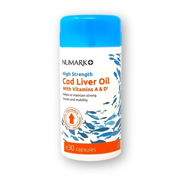Numark High Strength Cod Liver Oil with Vitamins A&D Capsules 30's