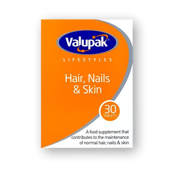 Valupak Hair, Nails & Skin Tablets 30's