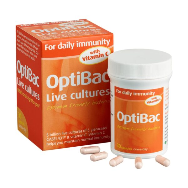 Optibac Probiotics For Daily Immunity Capsules